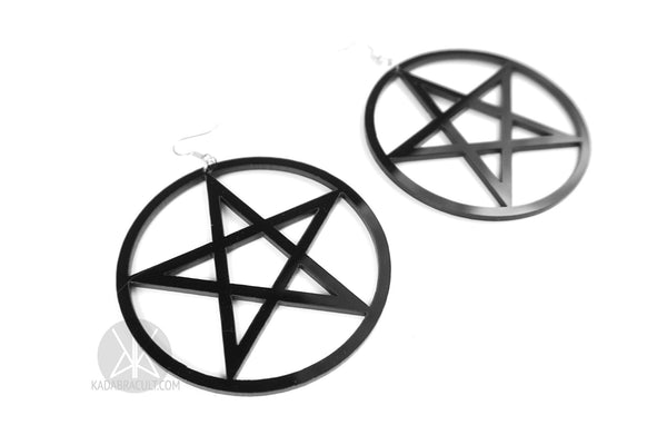 Giant Pentacle Earrings