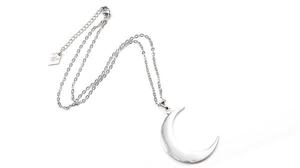 Super Moon - Large Crescent Moon Pendant Necklace