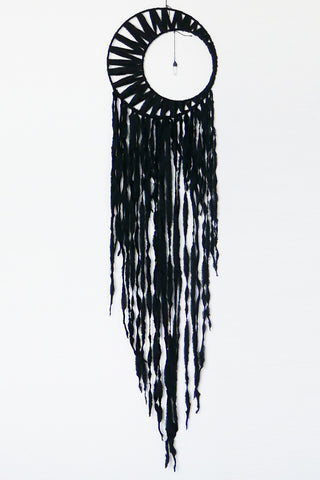 Black Moon Crystal Dreamcatcher