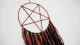 INVERTED PENTAGRAM Dream Catcher (Orange/Black)