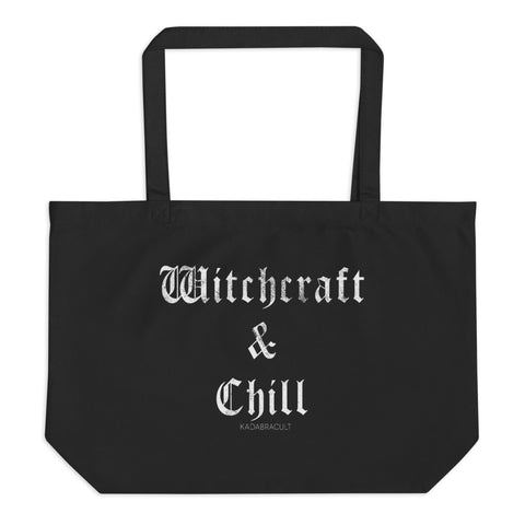 WITCHCRAFT & CHILL Large organic tote bag