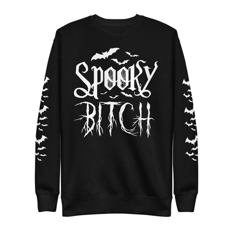 SPOOKY BITCH Unisex Fleece Pullover