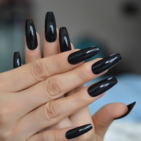Extra Long Coffin Press On Nails 24pcs