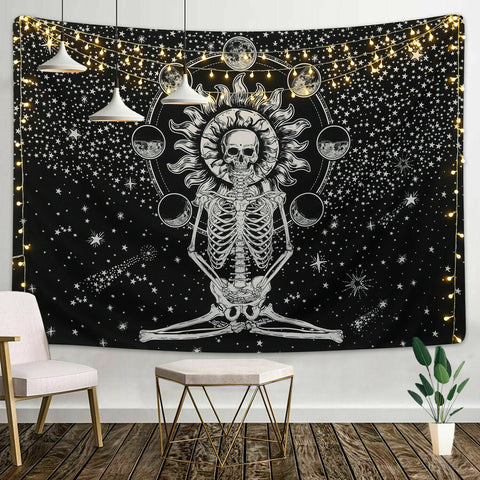 Celestial Skeleton Wall Tapestry