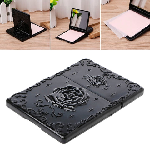 Gothic Rose Compact Mirror & Oil Blotting Papers