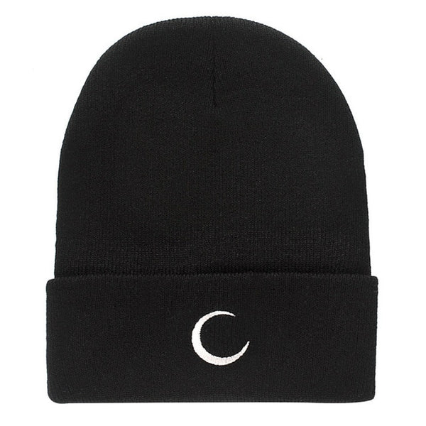 CRESCENT MOON Knit Beanie