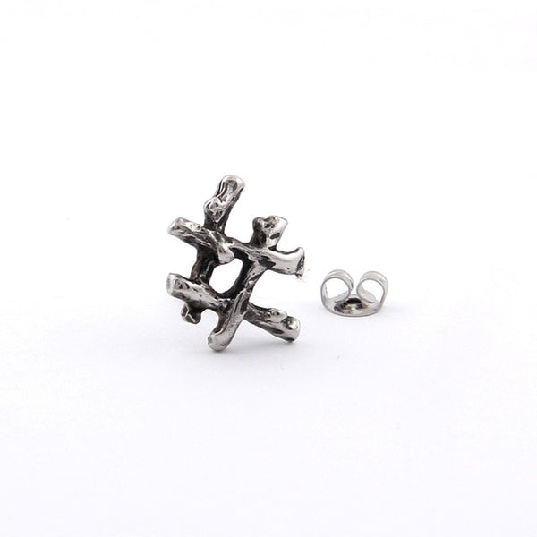 VIKING RUNE Stainless Steel Stud Earrings