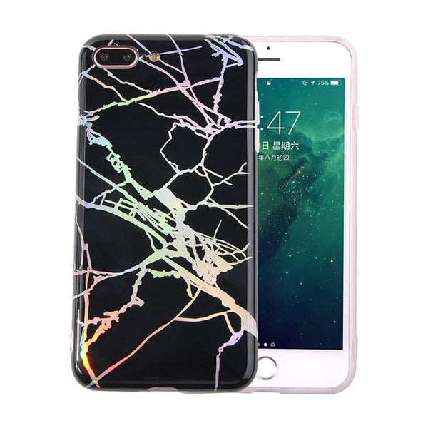 Holographic Marble Phone Case