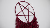 INVERTED PENTAGRAM Dream Catcher (Blood Red)