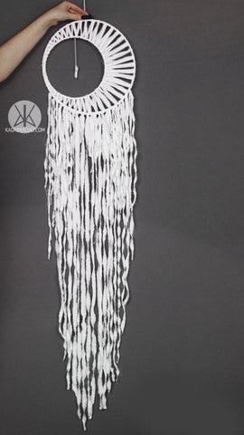 White Moon Crystal Dreamcatcher