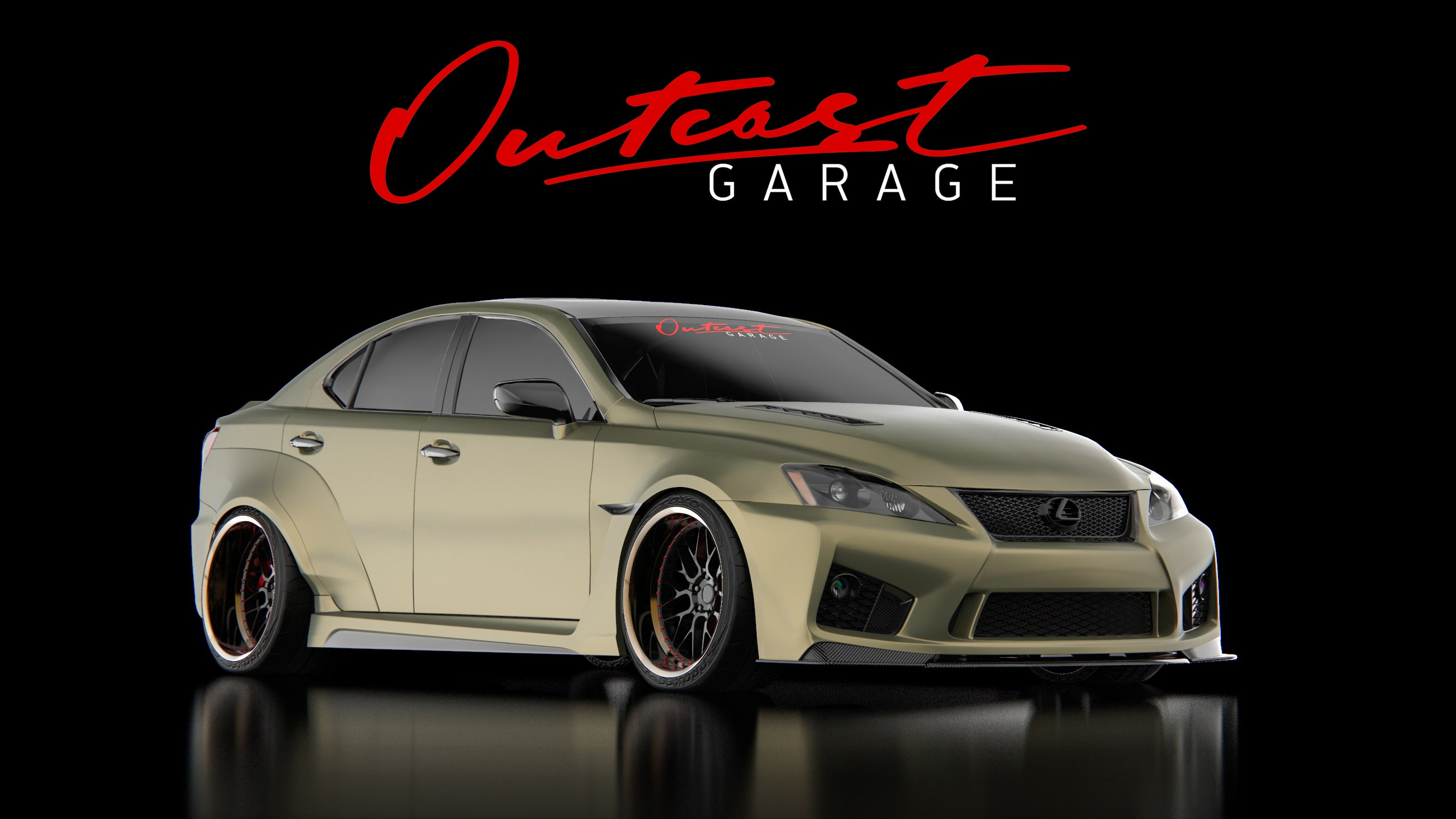 Outcast Garage Widebody Lexus ISF Build