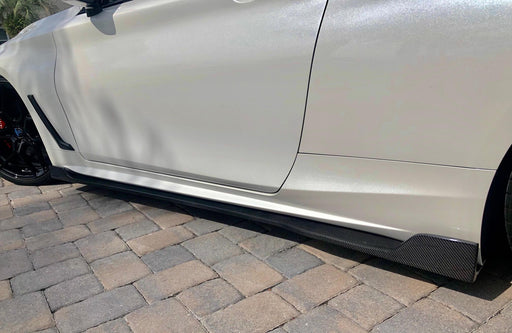 EMM Tuning Side Skirt Extensions (Carbon Fiber) - Infiniti Q60 Coupe (2017+)