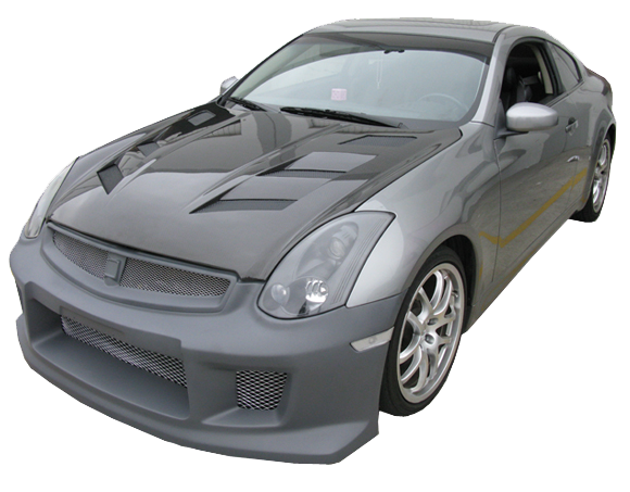 VIS Racing AMS Hood (Carbon Fiber) - Infiniti G35 Coupe - Outcast Garage