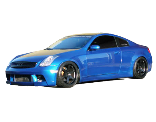 VIS Racing DMX Side Skirts (Fiberglass) - Infiniti G35 Coupe - Outcast Garage