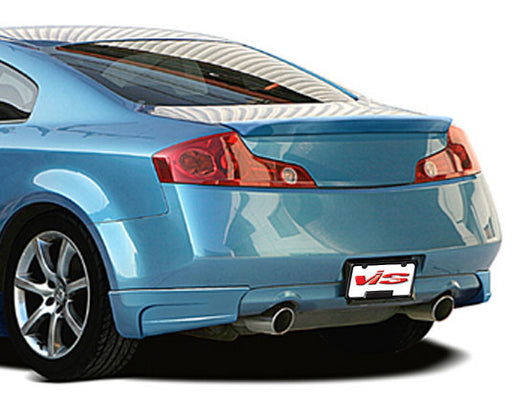 VIS Racing IK Design Rear Lip (Fiberglass) - Infiniti G35 Coupe - Outcast Garage