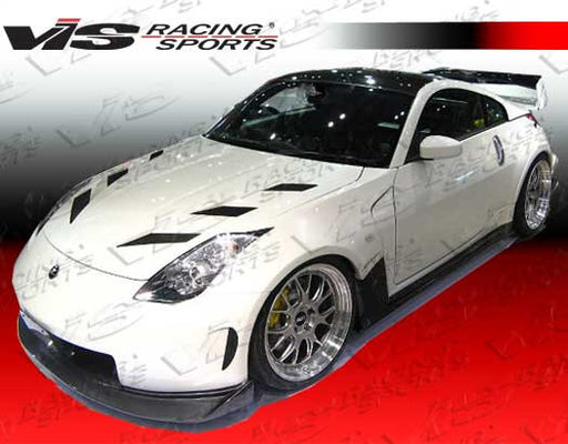 VIS Racing AMS Wide Body Front Bumper (Fiberglass) - Nissan 350Z - Outcast Garage
