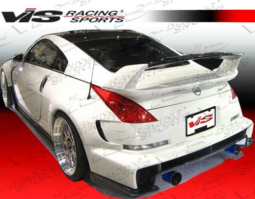 VIS Racing AMS Wide Body Rear Fenders (Fiberglass) - Nissan 350Z - Outcast Garage
