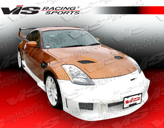 VIS Racing Fuzion Side Skirts (Fiberglass) - Nissan 350Z - Outcast Garage