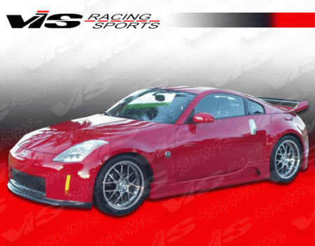 VIS Racing J-Speed Side Skirts (Fiberglass) - Nissan 350Z - Outcast Garage