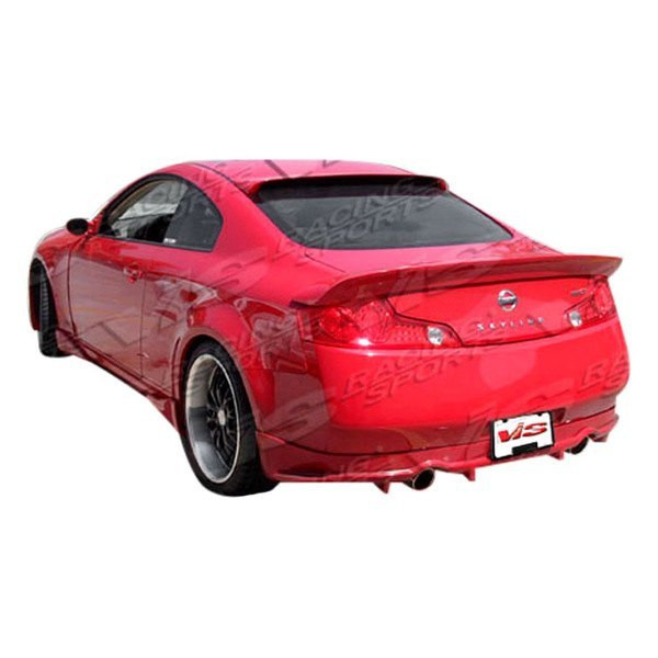 VIS Racing Invader / Veilside-Style Rear Lip (Fiberglass) - Infiniti G35 Coupe - Outcast Garage