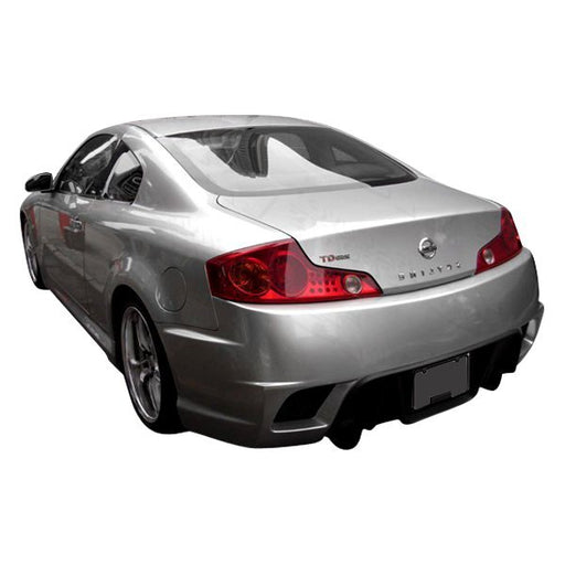 VIS Racing K-Speed Rear Bumper (Fiberglass) - Infiniti G35 Coupe - Outcast Garage