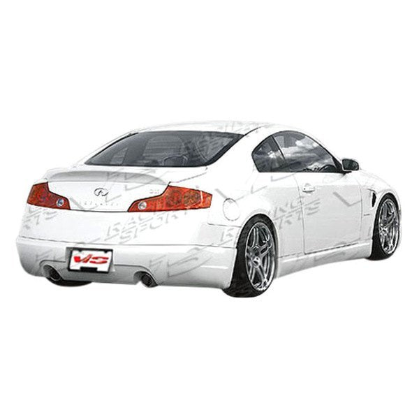 VIS Racing Wings / INGs-Style Side Skirts (Fiberglass) - Infiniti G35 Coupe - Outcast Garage
