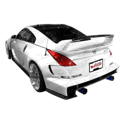 VIS Racing AMS Wide Body Rear Bumper (Fiberglass) - Nissan 350Z - Outcast Garage