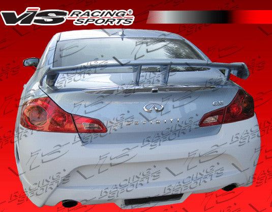 VIS Racing AMS GT Rear Bumper (Fiberglass) - Infiniti G35 Sedan (07-08) - Outcast Garage