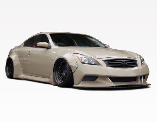 VIS Racing Walker / LB-Style Rear Fender Flares (Fiberglass) - Infiniti G37 / Q60 Coupe (09-15) - Outcast Garage