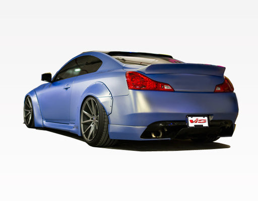 VIS Racing Walker / LB-Style Rear Diffuser (Fiberglass) - Infiniti G37 / Q60 Coupe (09-15) - Outcast Garage
