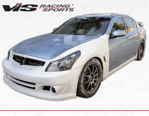 VIS Racing Wings / INGs-Style Front Fenders  (Fiberglass) - Infiniti G37 / Q40 Sedan (09-15) - Outcast Garage