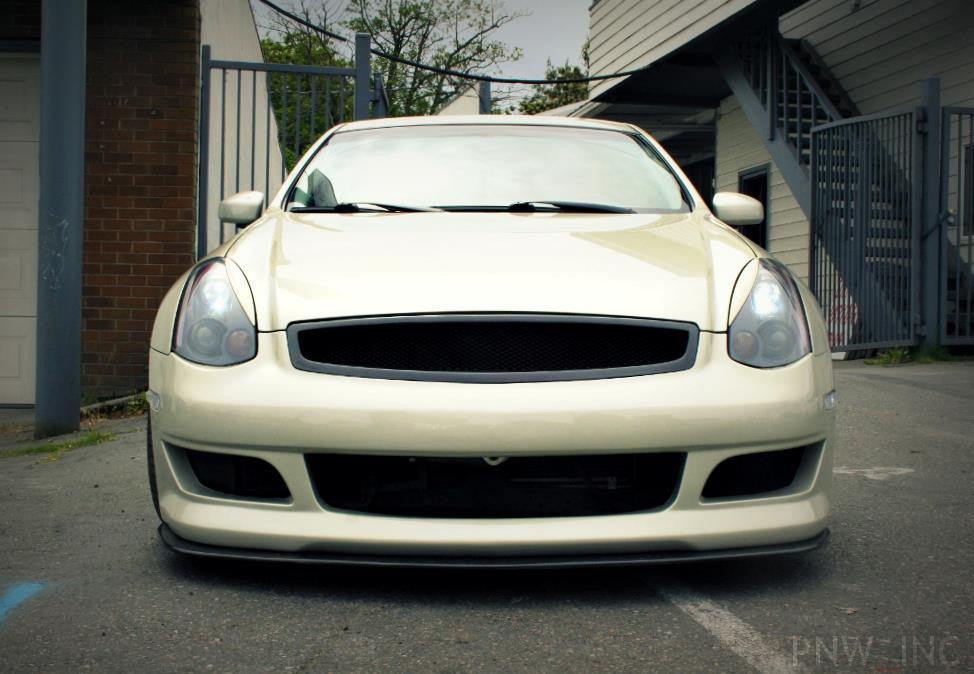 Front Splitter for K2 Bumper (Carbon) - Infiniti G35 Coupe - Outcast Garage