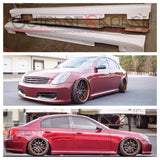 HikkataDori Fiberglass Side Skirt - G35 Sedan