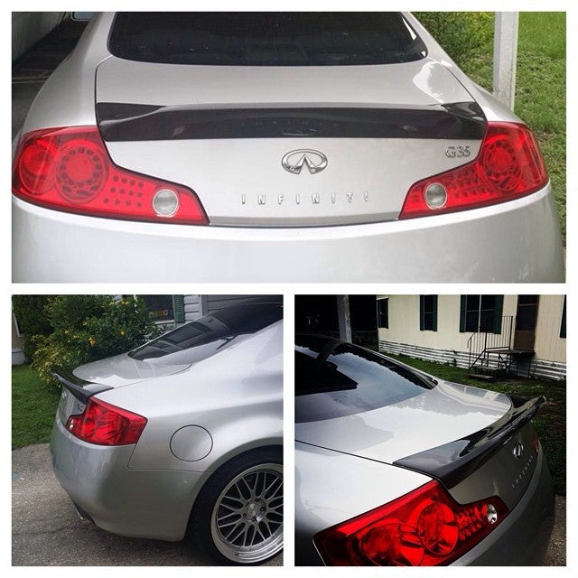 OG Designs Duckbill Trunk Spoiler (Carbon Fiber) - Infiniti G35 Coupe - Outcast Garage