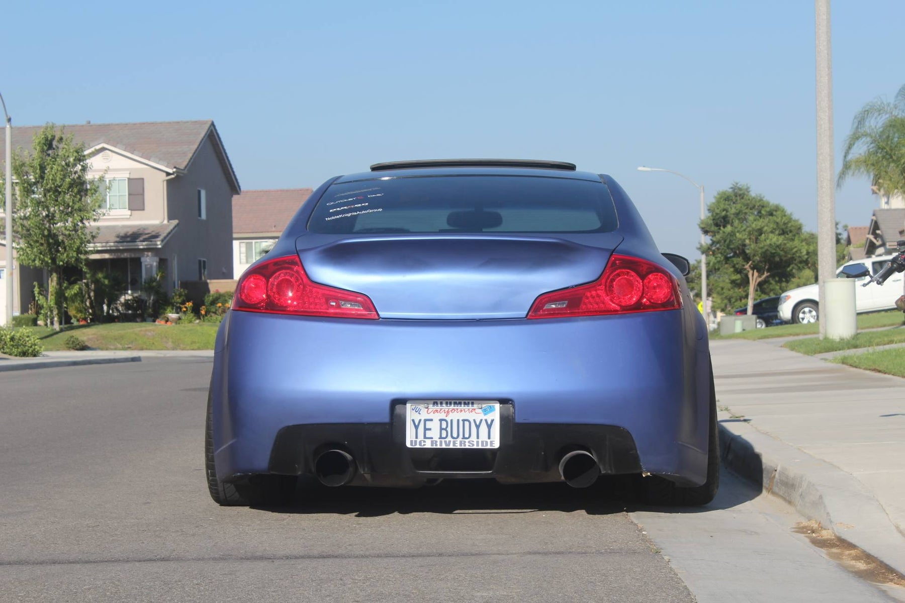 Hikkatadori AMS-Style Trunk Spoiler Mold-On (FRP) - Infiniti G35 Coupe - Outcast Garage