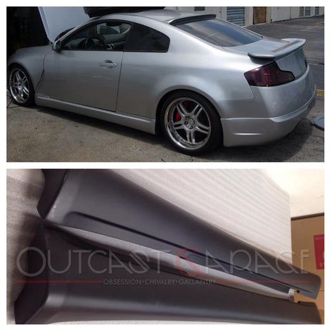 VIS Racing ING-Style Fiberglass Side Skirts - G35 Coupe
