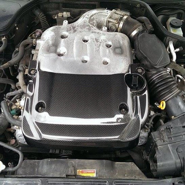 Carbon Fiber Half Engine Cover - G35 Sedan - Outcast Garage