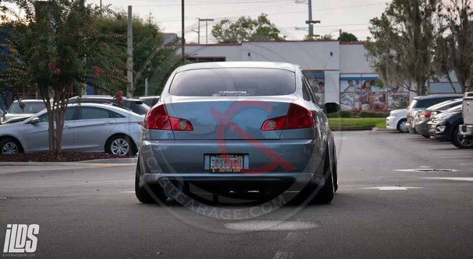 VIS Racing Techno-R / Nismo-Style  Rear Lip (Fiberglass) - Infiniti G35 Sedan (05-06) - Outcast Garage