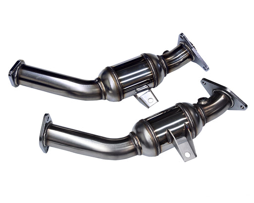 "HKS Stainless Steel Lower Downpipes, 2.5"" Resonated - Infiniti Q50 / Q60 3.0T VR30DDTT - IN STOCK!"