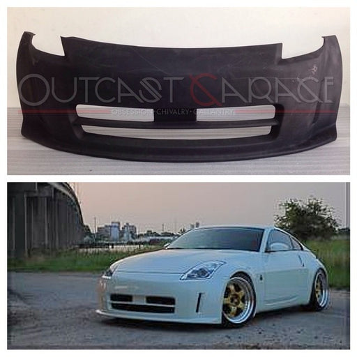 Nismo-Style V1 Front Bumper (Poly) - Nissan 350Z *DISCONTINUED* - Outcast Garage