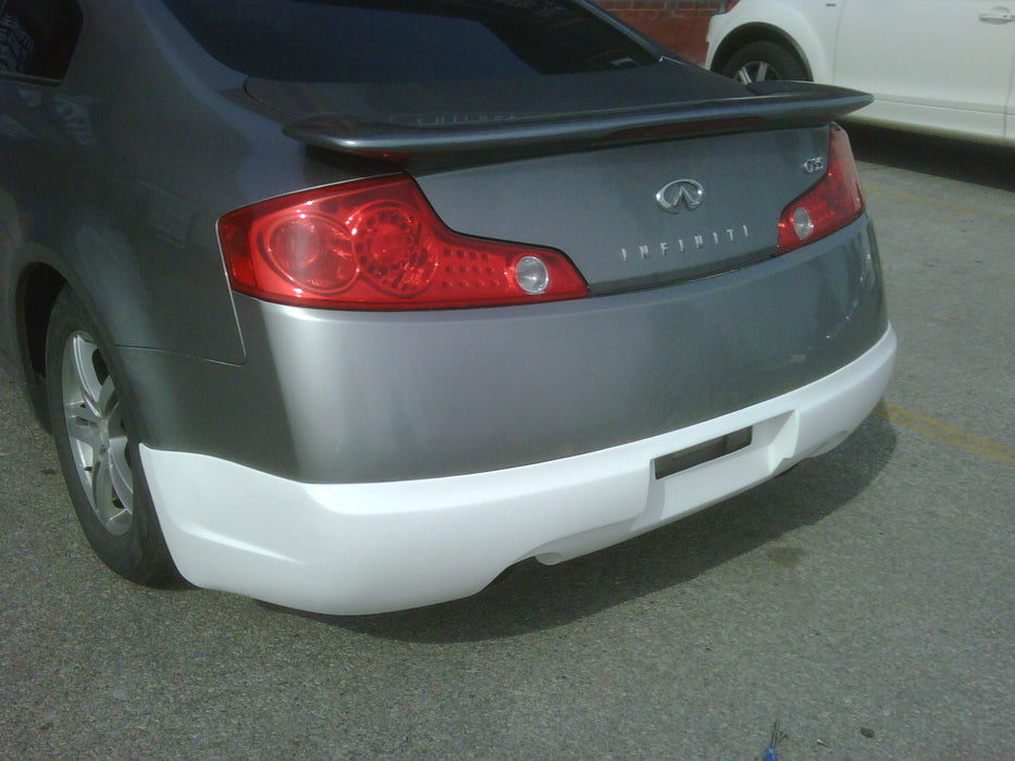 VIS Racing Wings / INGs-Style Rear Lip (Fiberglass) - Infiniti G35 Coupe - Outcast Garage