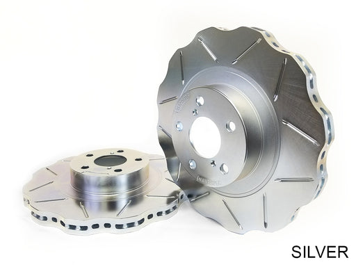 WaveSpec Direct Replacement Rotor, Front Slotted for Standard Non-Sport Calipers - Nissan 350Z 06-08, 370Z 09+ Z34 / Infiniti G35 05-07 Coupe, 05-06 Sedan RWD, 06 AWD V35