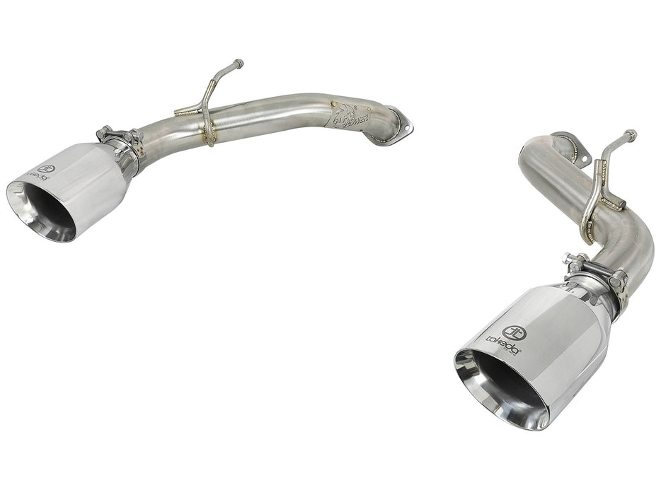 "aFe Takeda 2.5"" 304 SS Axle-Back Exhaust (Polished Tips) - Infiniti Q50 3.0t (16-18) - Outcast Garage"