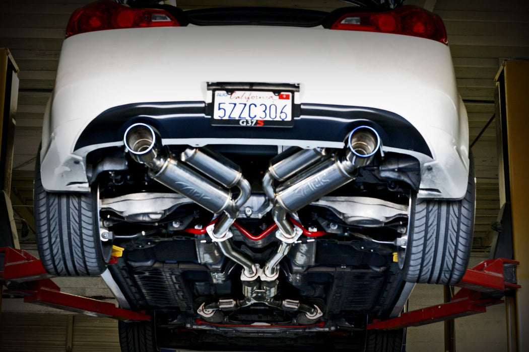 ARK Performance GRiP Exhaust System (Burnt Tips) - Infiniti G37 / Q60 Coupe RWD (08-15) - Outcast Garage