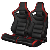 Braum Racing Black & Red Elite Series Racing Seats - Outcast Garage