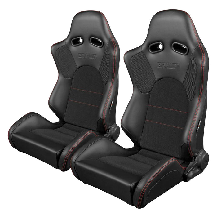 BRAUM Racing ADVAN Series Racing Seats (Red Stitching) - Outcast Garage