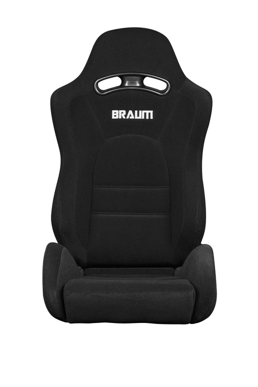 Braum Racing Black Cloth S8 Series Racing Seat V2 - Outcast Garage
