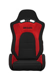 Braum Racing Black & Red Cloth & Suede S8 Series Racing Seat V2 - Outcast Garage