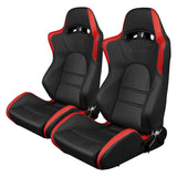 Braum Racing Black & Red S8 Series Racing Seat V2 - Outcast Garage