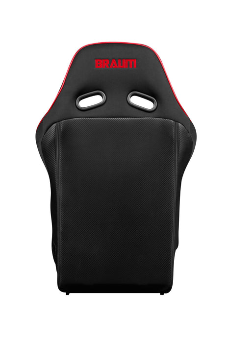 BRAUM Racing Falcon X Series FIA Approved Fixed Back Racing Seat (Black & Red) - Outcast Garage